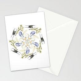 Tide Pool Beach Mandala 1 - Watercolor Stationery Cards