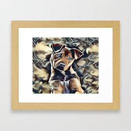 The Blue Eyed Pit bull Puppy Framed Art Print