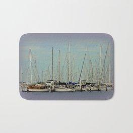 Flotilla of Yachts  Bath Mat