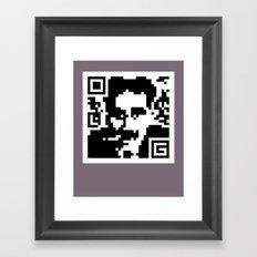 QR- Groucho Framed Art Print