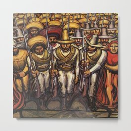From the Dictatorship of Porfirio Díaz to the Revolution, The People in Arms by David Siqueiros Metal Print