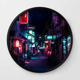 Late Night in Shinjuku's Golden Gai Wall Clock
