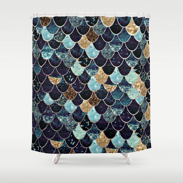 REALLY MERMAID - MYSTIC BLUE Shower Curtain
