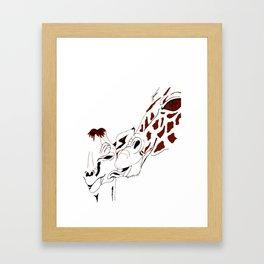 Giraffe Kisses Framed Art Print