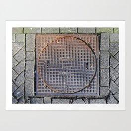manhole Amsterdam Art Print
