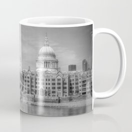 St Pauls Cathedral and the Millenium Bridge London Coffee Mug
