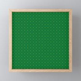 Happy St. Patrick's Day Pattern | Ireland Luck Framed Mini Art Print