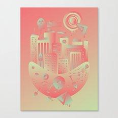 Geometromorphic City Canvas Print