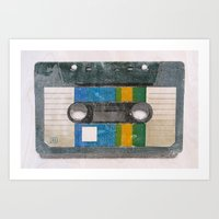 cassette Art Prints featuring Cassette by Tapio Mömmö