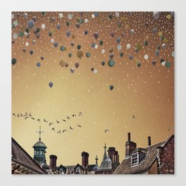 Innumerable wandering balloons Canvas Print
