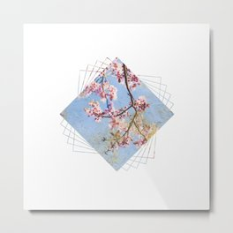 Subtly Flourishing - Square Metal Print