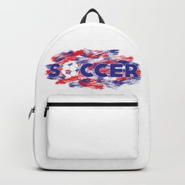 Soccer Red, White and Blue Backpack