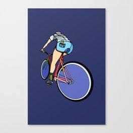 Fixie Cyclist Canvas Print