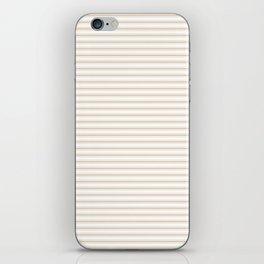Almond Baby Camel Mattress Ticking Narrow Striped Pattern - Fall Fashion 2018 iPhone Skin