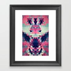 Abstract Triangle Donkey Framed Art Print