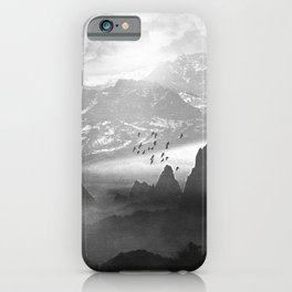 Black and White - Winter. Melody... iPhone Case