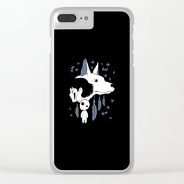 Anime Noke Wolf Clear iPhone Case