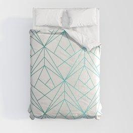 Geometric Turquoise Pattern Comforters