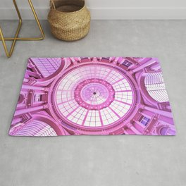 Pink Architecture Monument Rug