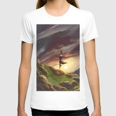 Studio Ghibli - Howl's Moving Castle White SMALL Womens Fitted Tee