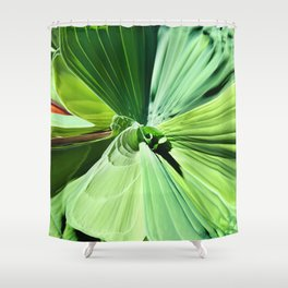 416 - Abstract Plant Design Shower Curtain