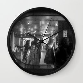 Man Eating Down of the Stairs, B Wall Clock