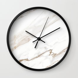 Cream White Marble Wall Clock