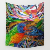 paradise Wall Tapestries featuring Paradise by shannon's art space