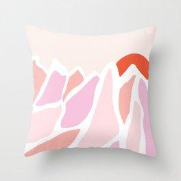 peak to peak, pink Throw Pillow