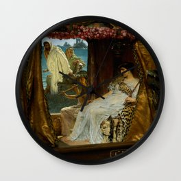 "Sir Lawrence Alma-Tadema ""The Meeting of Antony and Cleopatra"" Wall Clock"