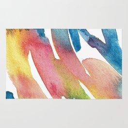 Watercolour Swirls Abstract Artwork Rug