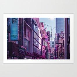 Seoul - Anime World Art Print