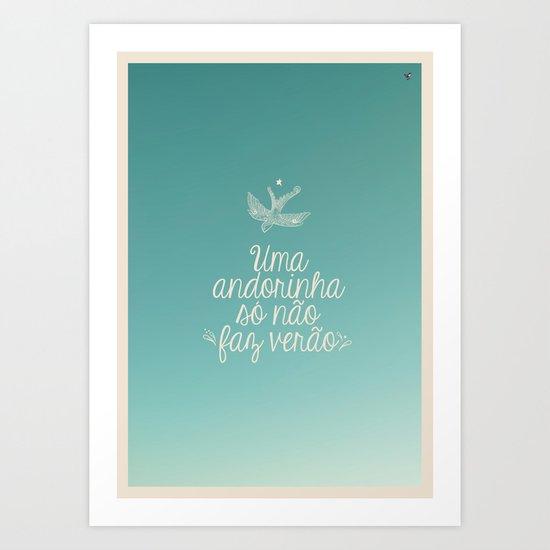 andorinha Art Print