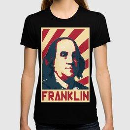 Benjamin Franklin Retro Propaganda T-shirt