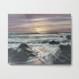 Sunrise Over Montauk Metal Print