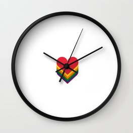 Heart rainbow Wall Clock