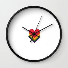 Heart rainbow Wall Clock