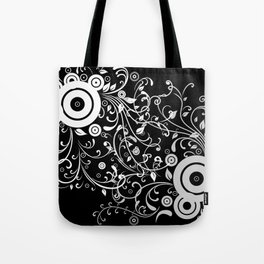 Abstract white and grey background Tote Bag