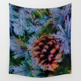 Vibrant Evergreen Christmas Wall Tapestry