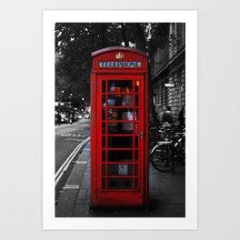 Telephone cabin Art Print