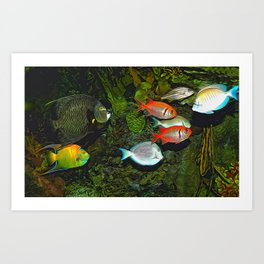 At the Aquarium Art Print