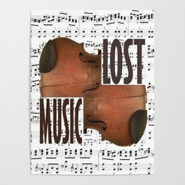 Lost music. Poster