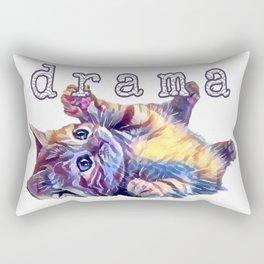 Kitten drama Rectangular Pillow