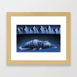 Long Dark Blues Framed Art Print