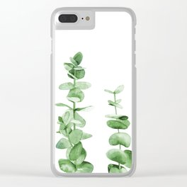 Eucalyptus leaves. Clear iPhone Case