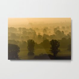 Sunrise Fog Metal Print