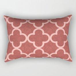 Red Arabic Tile Rectangular Pillow