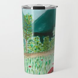 poppy-coquelicot Travel Mug