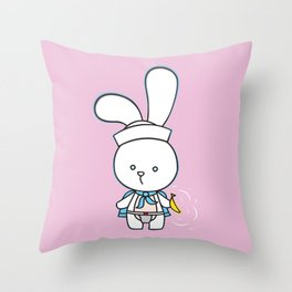 Stinky Bunny has a present for you! Throw Pillow
