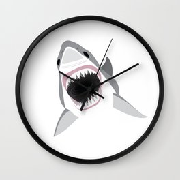 Shark Attack Jaws Wide Wall Clock